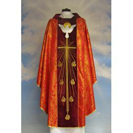 Ornat haftowany Duch Święty - aksamit (6)