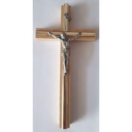 Krzyż drewniany na ścianę - 8 cm x 16 cm, jasny brąz (5)