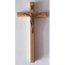 Krzyż drewniany na ścianę - 8 cm x 16 cm, jasny brąz (7)