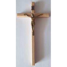 Krzyż drewniany na ścianę - 8 cm x 15,5 cm, jasny brąz (8)