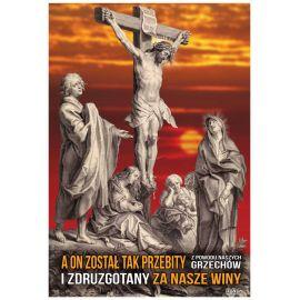 Plakat religijny - Przebity za nasze winy (9)