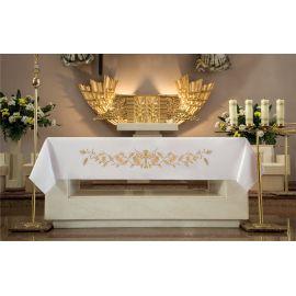 Obrus ołtarzowy - haftowany symbol Krzyża