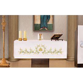 Obrus ołtarzowy - haftowany symbol IHS