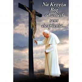 Plakat religijny – Na krzyżu Bóg ... (25)