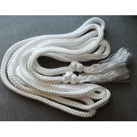 Cingulum białe plecione - 4 metry
