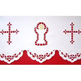 Obrus ołtarzowy haftowany - wzór eucharystyczny (97)