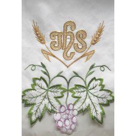 Obrus ołtarzowy haftowany - wzór eucharystyczny (150)