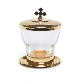 Lavabo liturgiczne mosiądz złocony - 50 ml